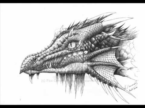 My dragon and fantasy drawings - YouTube