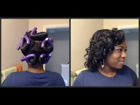 Girly Curls With Only 9 Purple Flexi Rods Youtube