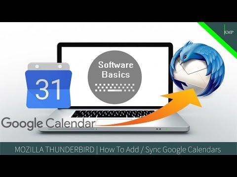 MOZILLA THUNDERBIRD   How To Add / Sync Google Calendars