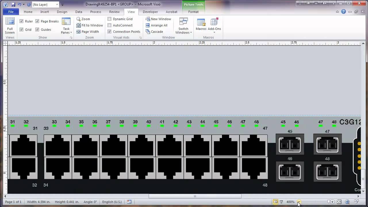 medium resolution of visio 2010 network rack diagram tutorial part 2 modify equipment shape graphic youtube