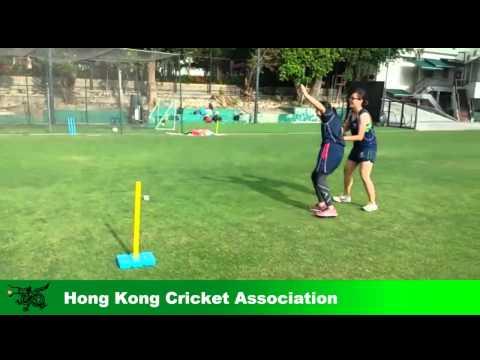 Hong Kong Cricket Women's Team in Warm up Drill