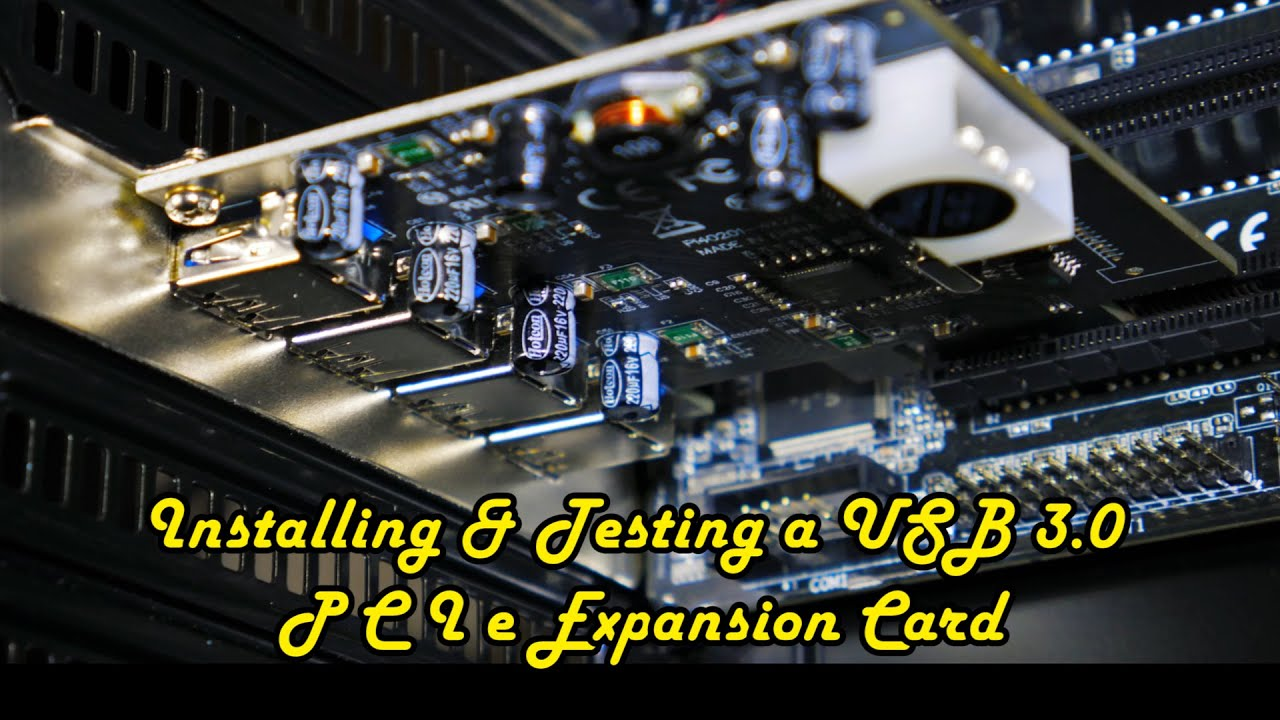 how to install usb 3.0 card