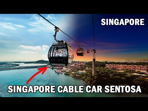 Fantastic View from the Singapore Cable Car | Mount Faber to Sentosa