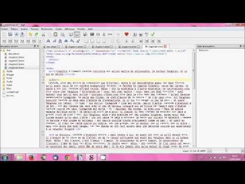 Créer un fichier epub avec Sigil