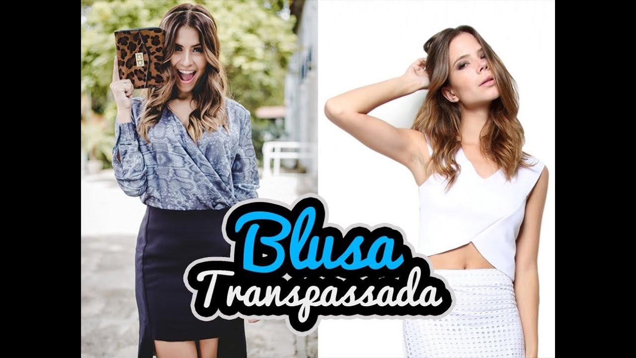 08dd64ba70 Blusa Transpassada (Modelagem) - YouTube