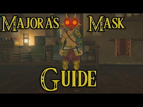 How to get Majora's Mask Guide  EX Treasure Ancient Mask DLC Pack 1 Zelda Breath of The Wild