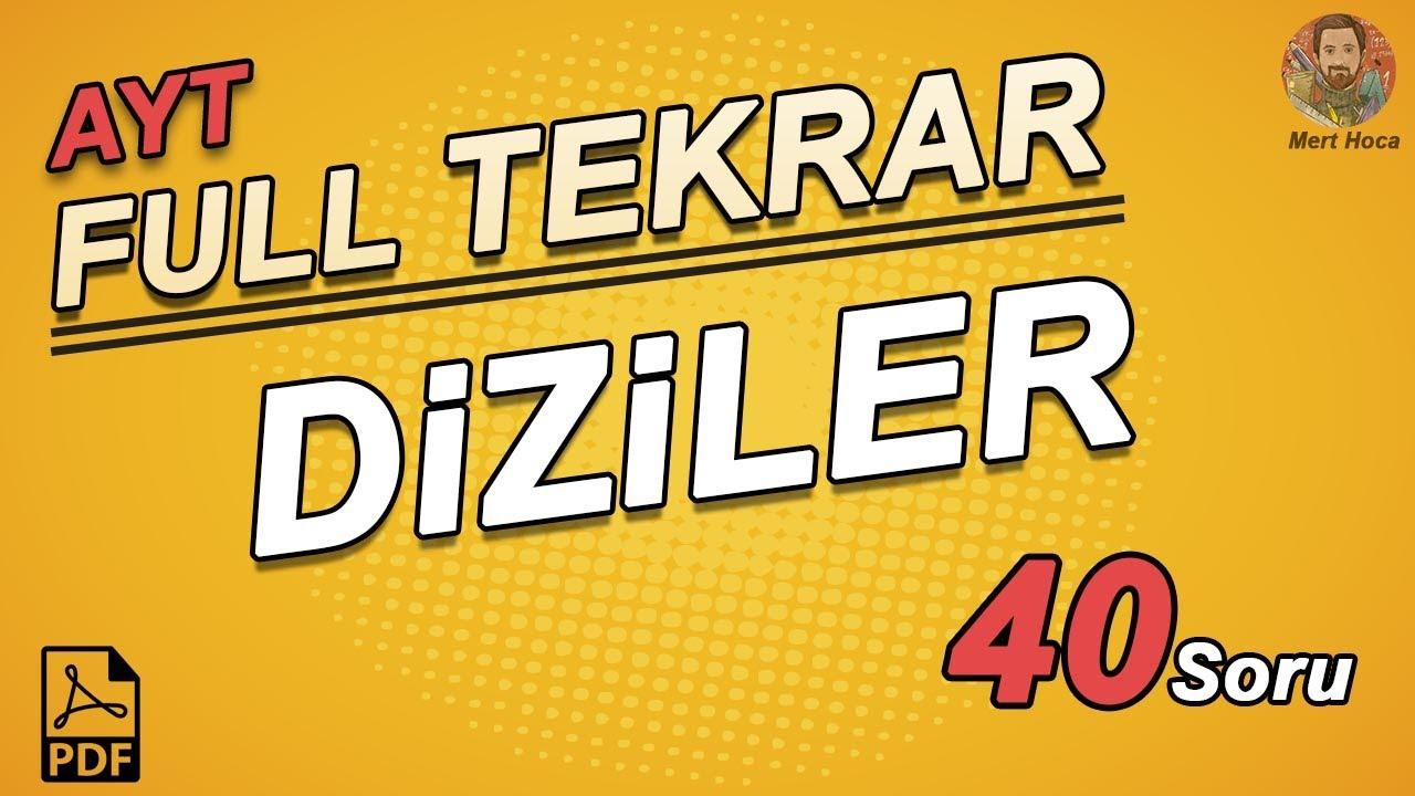 Diziler | AYT Full Tekrar | Mert Hoca #aytfulltekrar (PDF)