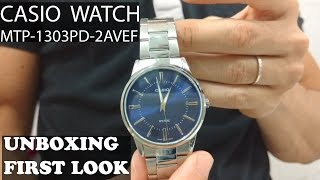 Casio Men's Watch Collection Mtp-1303D-2Avef | Unboxing and first look (amazon)