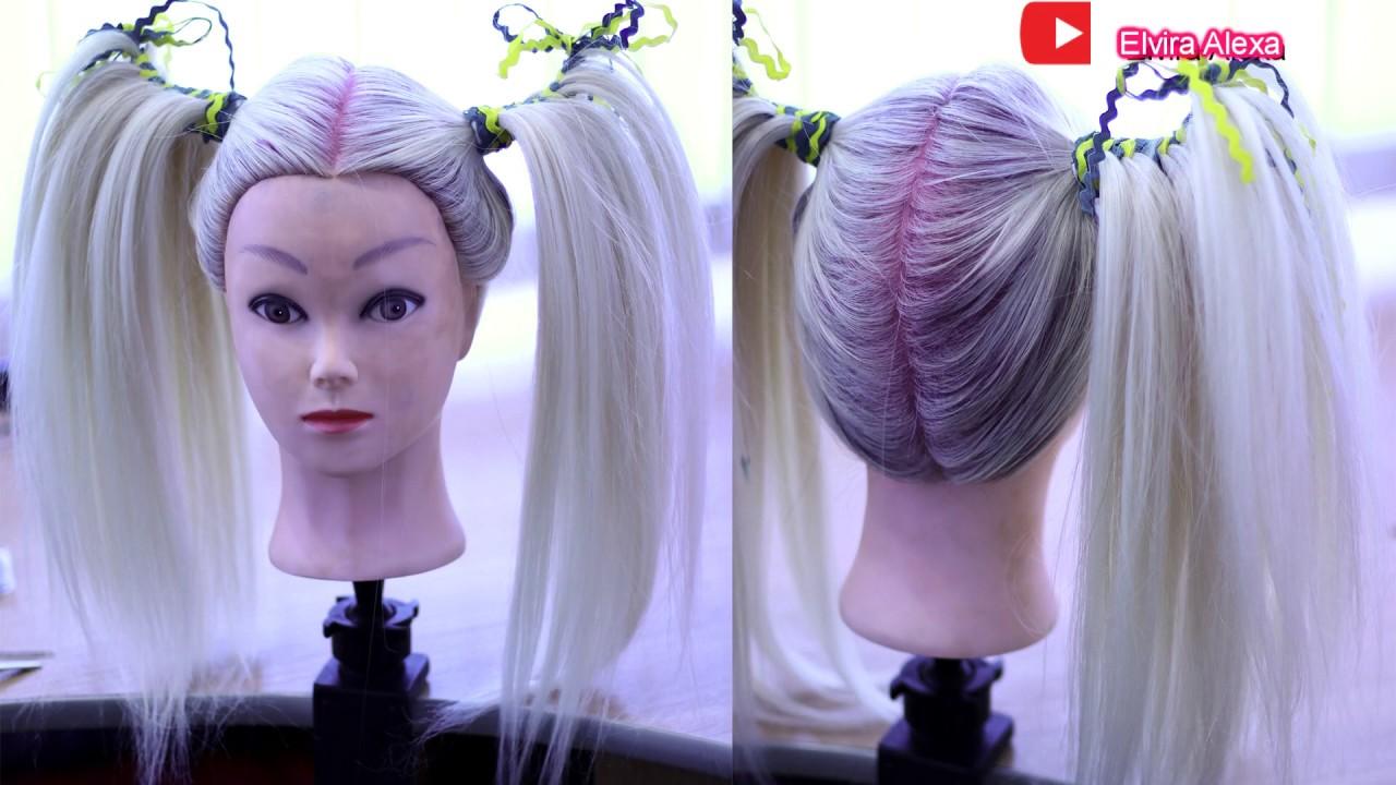 Две косички для девочки Причёска хвост скорпиона Peinado para niña fácil y rapido
