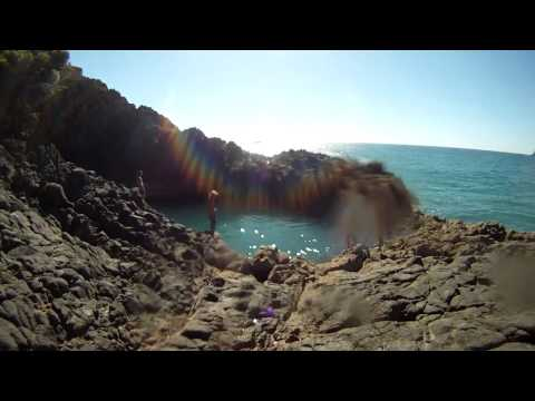 Mission to the rock pool, Back Beach, New Plymouth, Taranaki