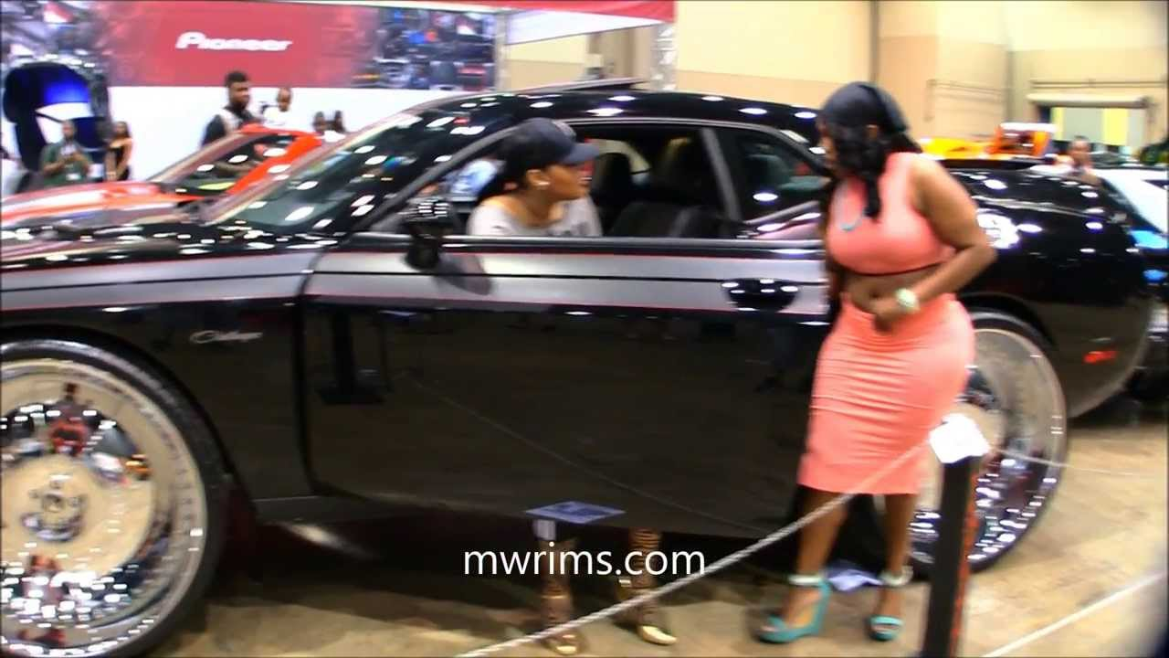 "Dodge Challenger 24 Inch Rims >> DODGE CHALLENGER 32s ON 32"" FORGIATO RIMS DUB SHOW CHICAGO 2013 - YouTube"