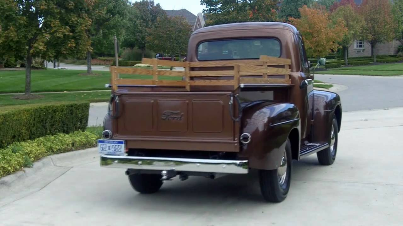 1951 Ford F 3 Pickup Restored Classic Muscle Car For Sale In Mi