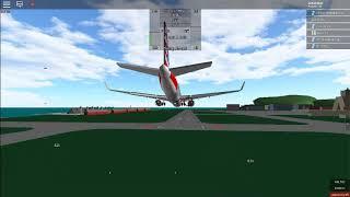 Roblox Boeing 737-800 American Airlines voo 552 aterragem dura