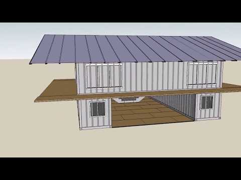 Thumbnail: 3 Design Shipping container house with Sketchup