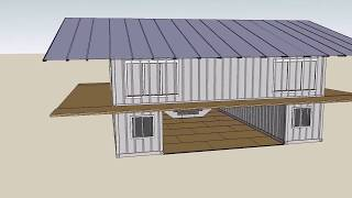 3 Design Shipping container house with Sketchup - Underground container house design