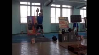 Гнатусин Артем собственный рекорд в толчке гирь по длинному циклу