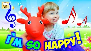 Na, na, na I'm so happy! Action Songs for kids with Alena Nursery rhymes by Chiko TV HD Vlad IRL