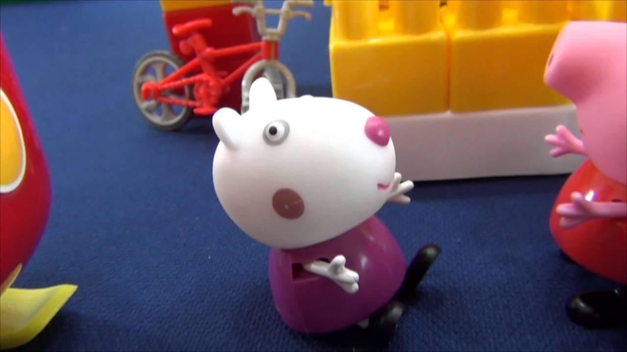 Свинка Пеппа и Сьюзи на прогулке. Перегонки Пеппы и Сьюзи ...