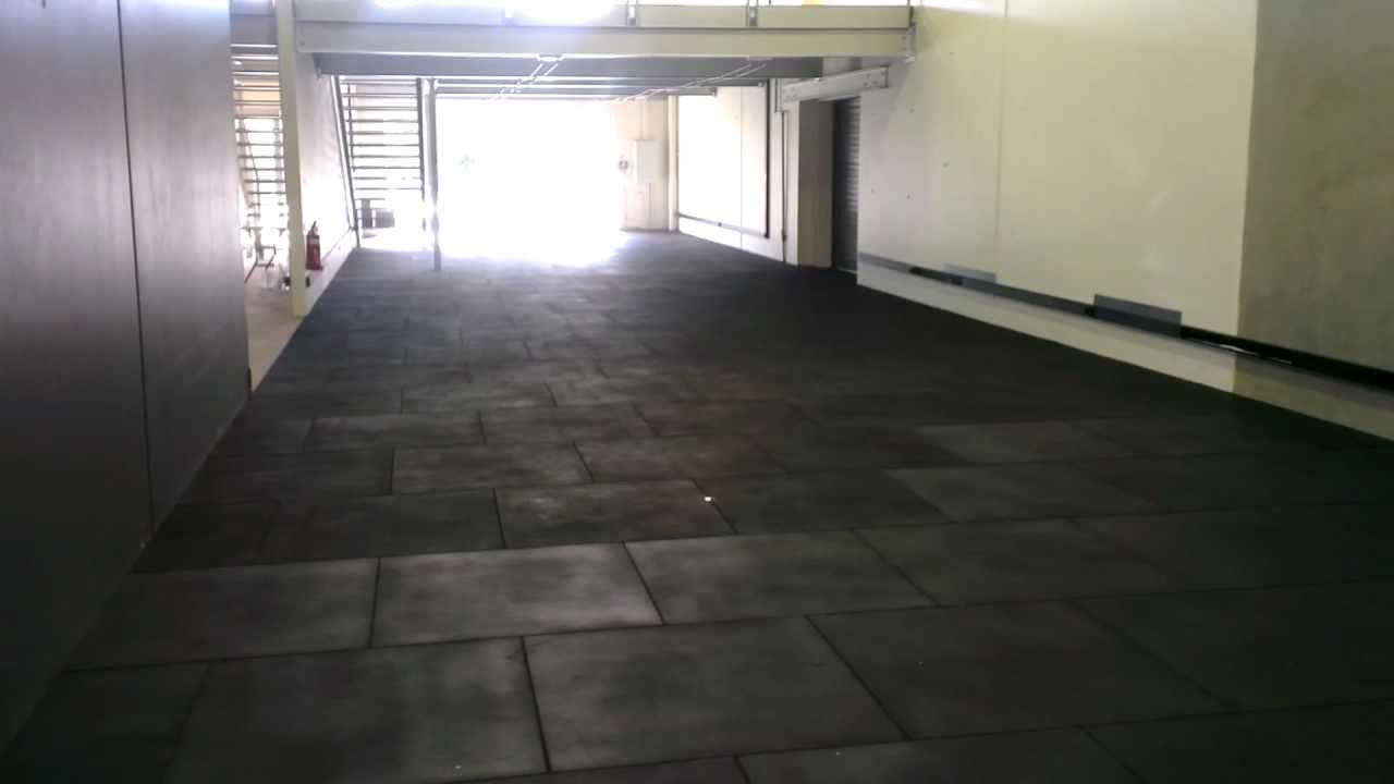 How to lay install rubber gym flooring youtube doublecrazyfo Choice Image
