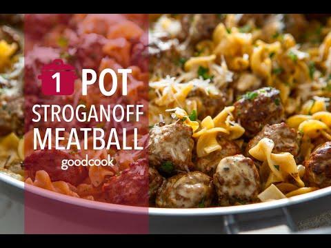One-Pot Meatball Stroganoff