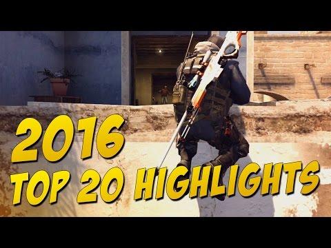 CS:GO - Top 20 Highlights of 2016