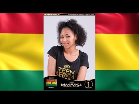 Miss Teen Africa UK 2017 - Sarah Francis (Ghana)