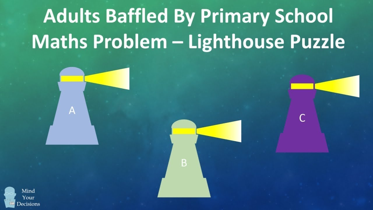 Adults Baffled By Primary School Math Problem - How To Solve The Lighthouse  Puzzle