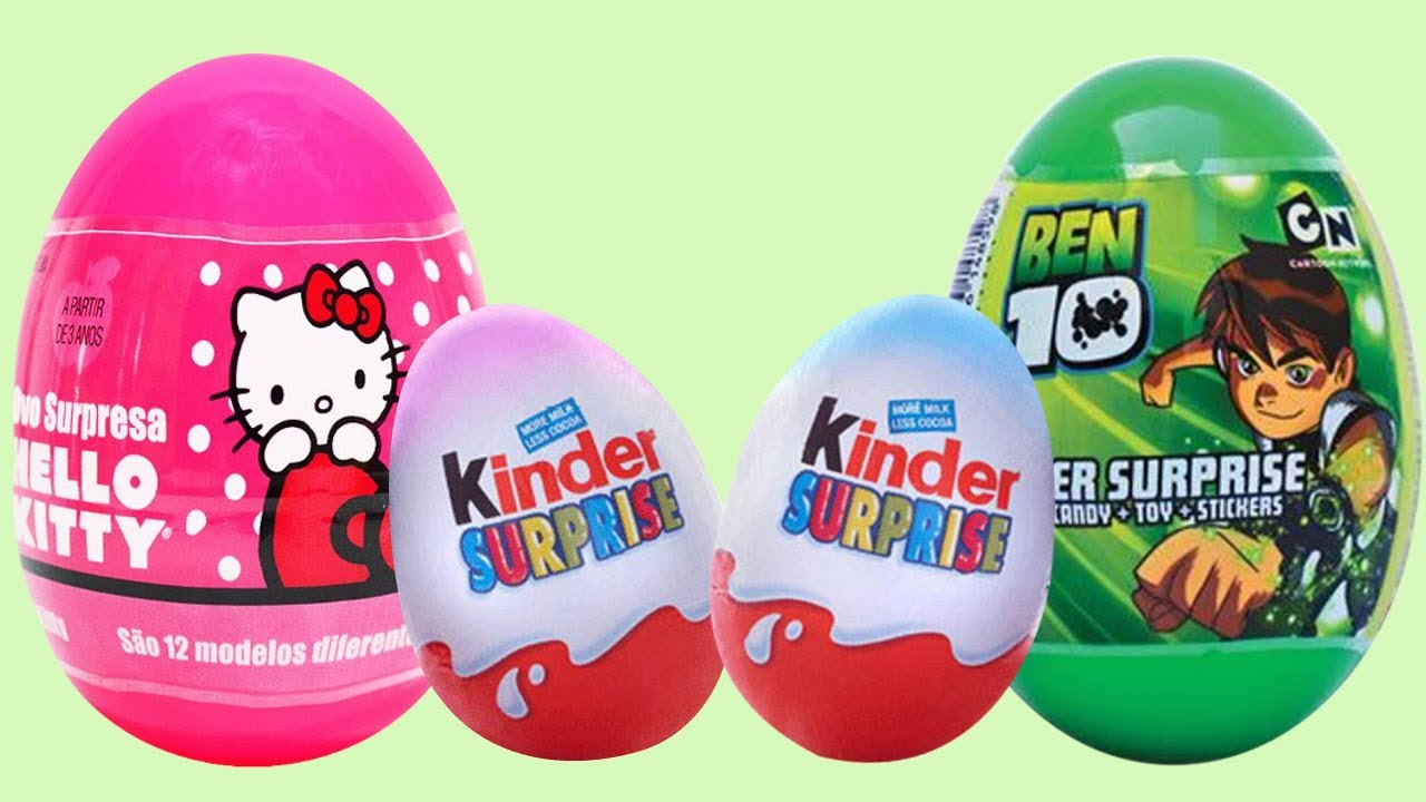 Kinder Egg Natoons 10 Surprise Eggs Kinder Surprise Hello Kitty Ben 10