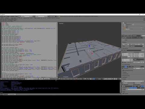 Random level creator written in Python for Blender 3D