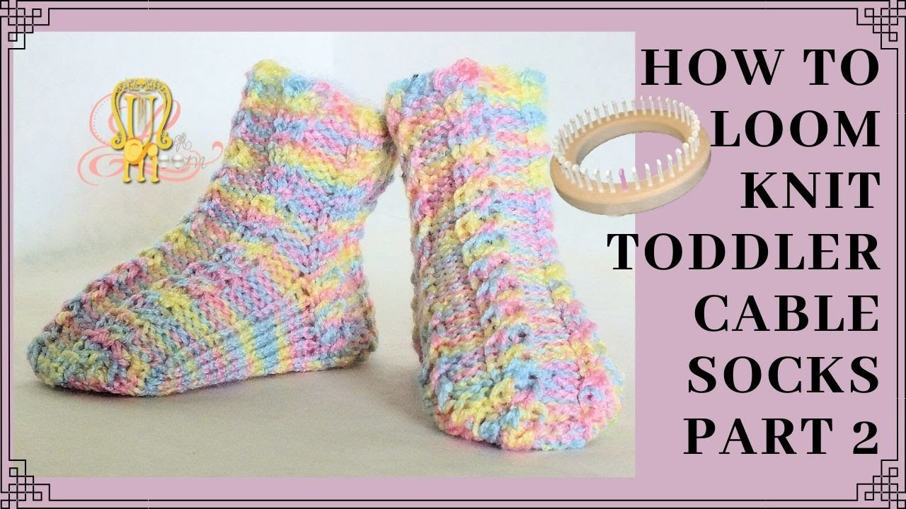 How to Continue a Stitch Pattern to Tip of Toe ( Loom Knitting Socks ...