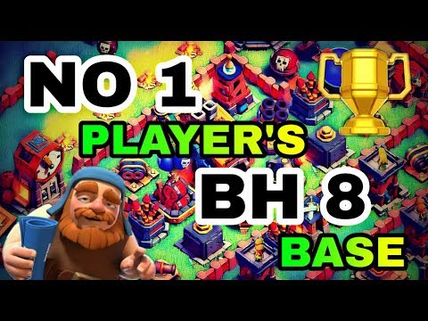 BH8 BEST BASE LAYOUT WITH REPLAY   TOP PLAYER'S BUILDER HALL 8 BASE IN COC   CLASH OF CLANS