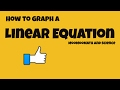 How to graph a linear equation.