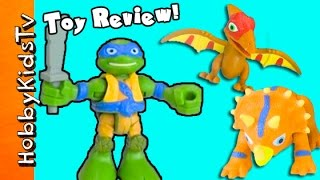 TMNT Half-Shell Heroes Dino Fun Toy Review! HobbySpider Box Open HobbyKidsTV