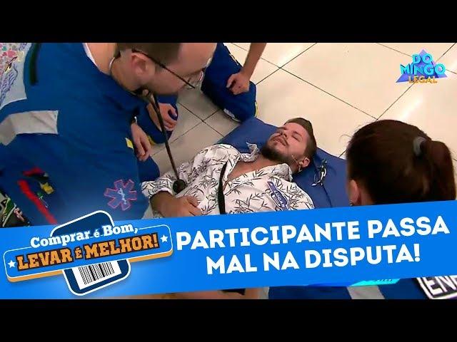 Participante passa mal no 'Comprar É Bom, Levar É Melhor' | Domingo Legal - 10/03/19
