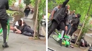 London Police officer knocked to the ground in 'sickening' attacked as onlookers take selfies