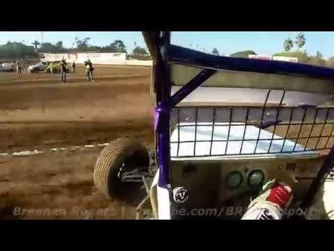 Jake Swanson | USAC/CRA Sprint Car Heat Race | Ventura Raceway | 5-10-14