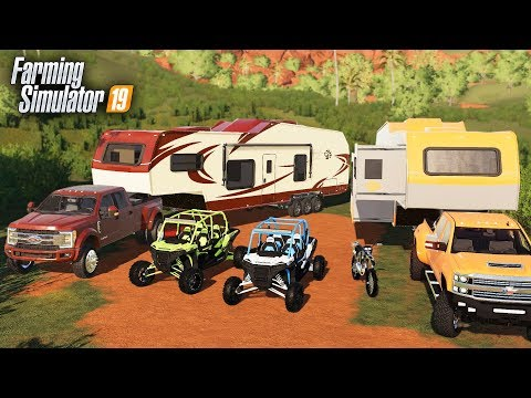 FS19- BILLIONAIRE CAMPING WITH NEW $100,000 LUXURY CAMPER (MULTIPLAYER) thumbnail