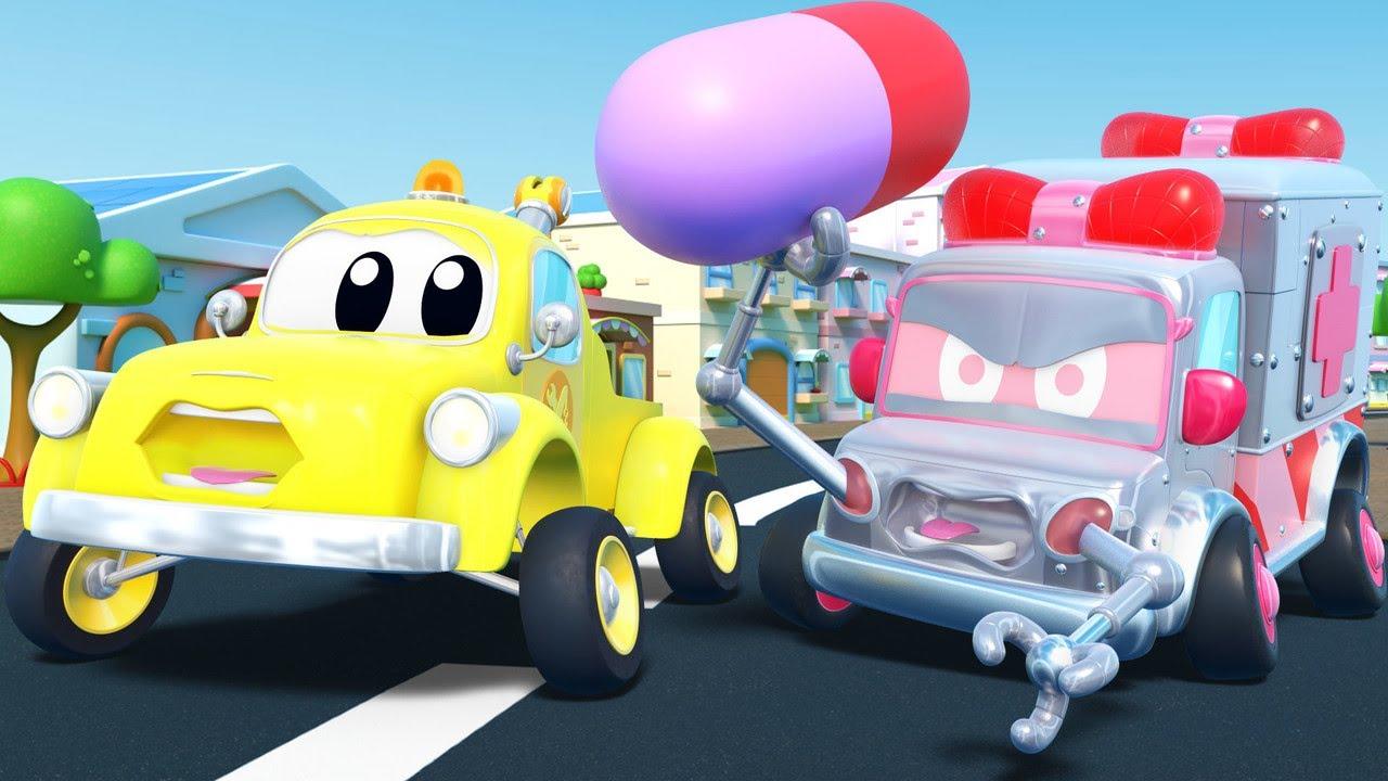 Những phát minh của Tom xe tải cứu hộ – Mùa xuân : Rô bốt xe cứu thương phát điên – Thành phố xe hơi