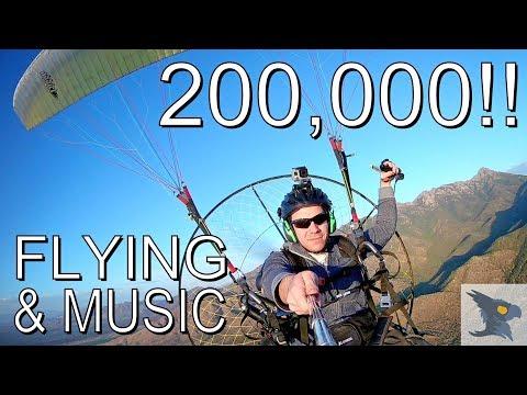 Flying Paramotor + Original Song! 200k Subs!