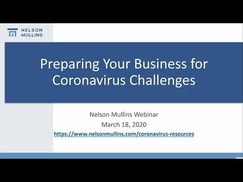Preparing Your Business For Coronavirus Challenges