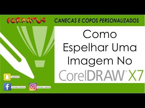 Como espelhar imagem no Corel Draw