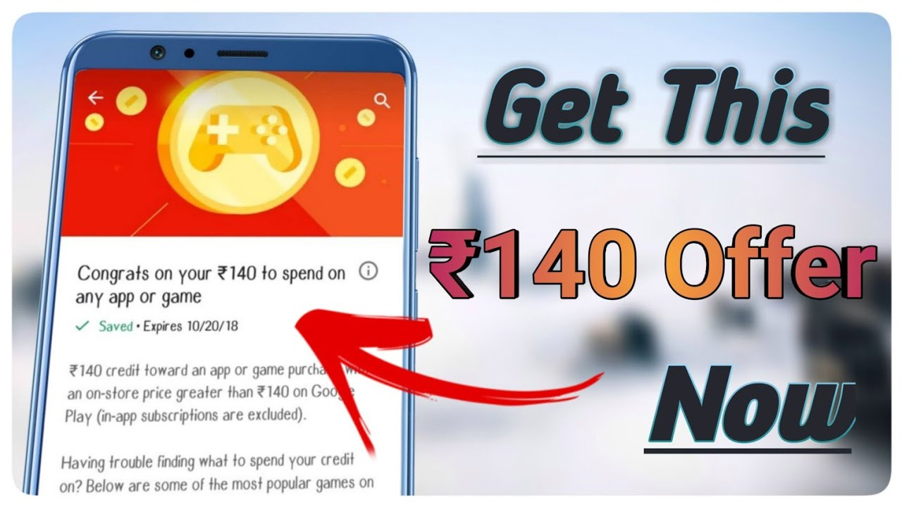 { 100% WORKING } How to get 140 rs in play store 2019 | How to Get Free  Google Play ₹140 Gift Card