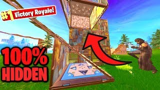 100% INVISIBLE Bounce Pad SPIKE TRAP in Fortnite!
