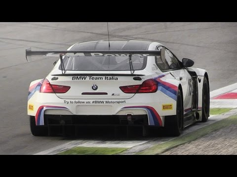 BMW M6 GT3 Sound In Action On Track - Accelerations, Fly Bys & Downshifts