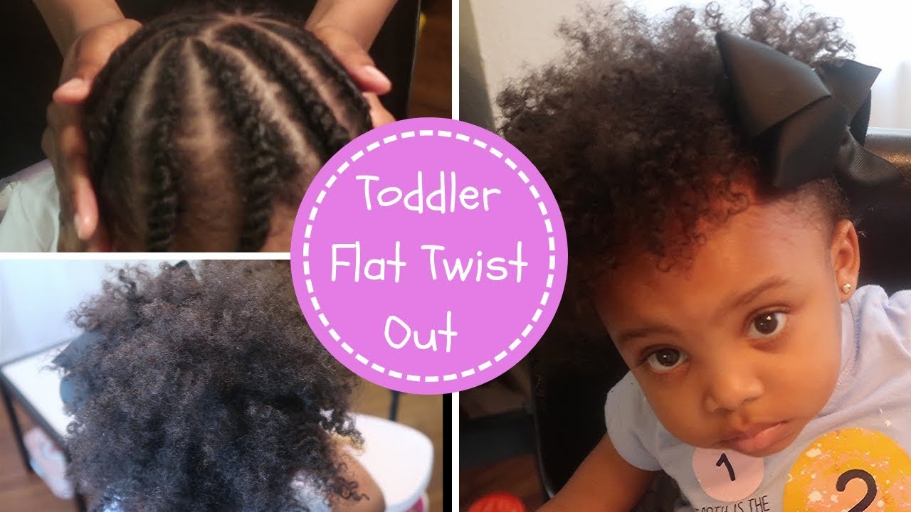 Flat Twist Out On Toddler Natural Hairstyle For Kids