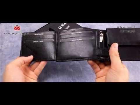 La Scala férfi bőr pénztárca R1021 T - YouTube e6d434da49