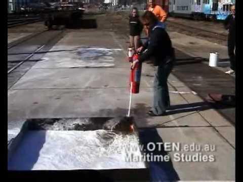 Fire Fighting Foam Extinguisher Used In Tray Bilge