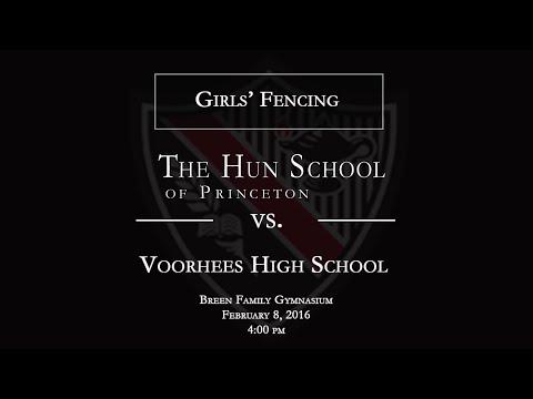 The Hun School of Princeton Girls' Fencing vs. Voorhees High School