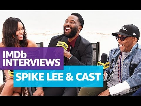 Spike Lee, John David Washington and Laura Harrier 'BlacKkKlansman' Interview at Cannes 2018