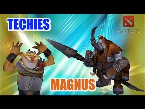 видео: magnus и techies - Связка героев dota 2
